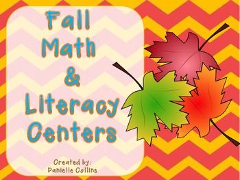 Fall Kinder Math & Literacy Pack (18 CCSS Centers)
