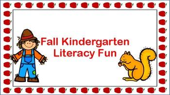 Fall Kindergarten Literacy Fun