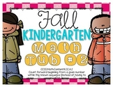 Fall Kindergarten Math Tub #2 {Counting Forward From A Given Number}