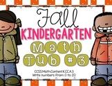 Fall Kindergarten Math Tub #3 {Writing Numbers 0-20}
