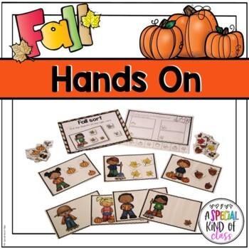 Fall Kindergarten Math Work Station Activities