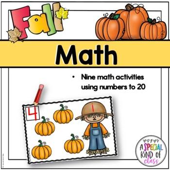Fall Activities Kindergarten Math and Literacy Work Station Activities (Bundle)