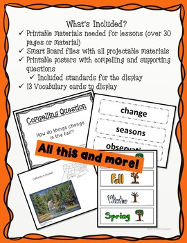 Fall Kindergarten Science and Social Studies Unit