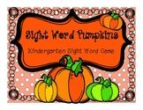 Fall Kindergarten Sight Word Game