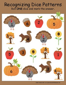 Fall Kindergarten and 1st Grade Differentiated Learning Math Packet