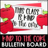 Fall Kindness September Bulletin Board and Apple Craft Door Decor