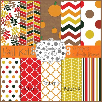 Fall Kit- Papers and Doodle Frames