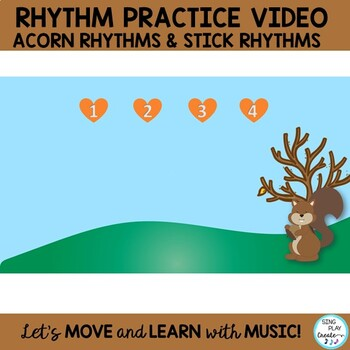 "Fall Music Game Song Unit: ""Five Little Acorns"" Kodaly and Orff Lessons  K-3"
