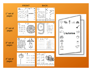 Fall / L'automne - FRENCH Activity Booklet