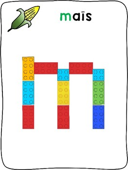 Fall / L'automne - French - Plastic building block activity mats