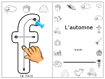 Fall / L'automne finger tracing / pushpin fine motor booklet