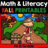 Fall Math & Literacy Printables {1st Grade}
