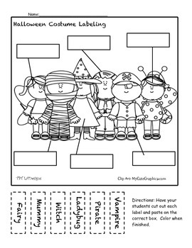FREE Turkey, Halloween, Thanksgiving-- Fall Labeling Activity Pack- ELA/Centers