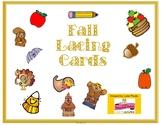 Fall Lacing Cards