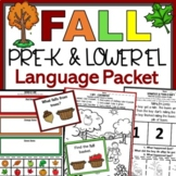 Fall Language Activities for Preschool and Lower Elementar