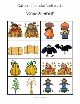 Fall Autumn Language Activities for Speech Therapy