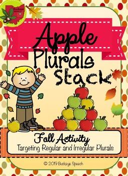 Fall Language Activity - Apple Plurals Stack