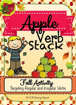 Fall Language Activity - Apple Verb Stack