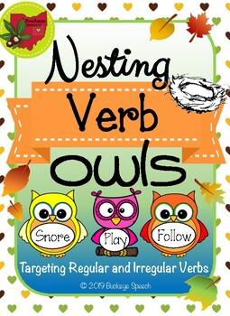 Fall Language Activity - Nesting Verb Owls