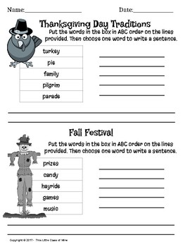 Fall Language Arts Bundle
