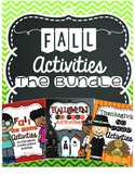 Fall NO PREP Activities Bundle