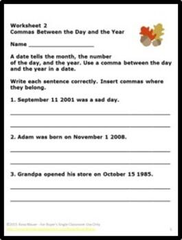 Fall Language Arts Worksheets