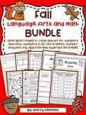 Fall Language Arts and Math BUNDLE
