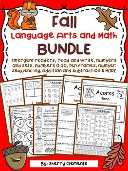 Fall Language Arts and Math BUNDLE