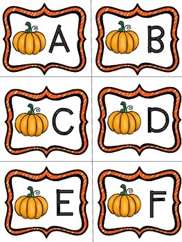 Fall Language Arts and Math Centers