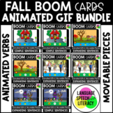Fall Language Boom Cards Bundle   WH Questions   Verb GIFs