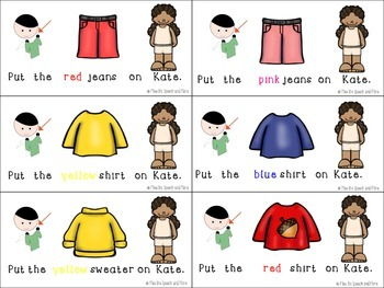 Fall Language Concepts: Clothing, Pronouns, and Following Directions