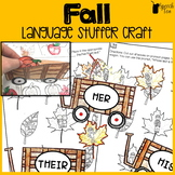 Fall Language Stuffer Craft | Fall Speech Therapy