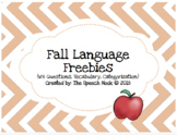 Fall Language Freebies