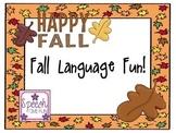 Fall Language Fun