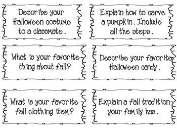 Fall Language Printables