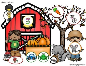 Fall Language Processing Dough Mats:  Association and Categorization Skills