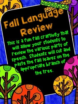 Fall Language Review Craftivity