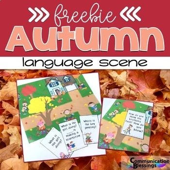 Fall or Autumn Language Scene Freebie