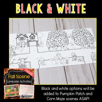 Fall or Autumn Language Scene Freebie