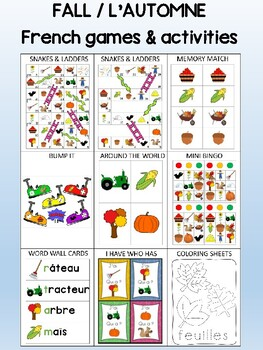 Fall / L'automne FRENCH Games