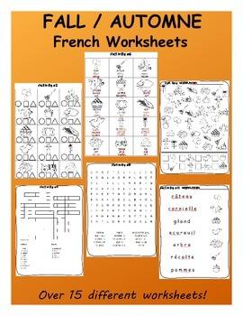 Fall / L'automne FRENCH Mega Pack (games,worksheets, workbooks & Smartnotebook)
