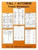 Fall / L'automne FRENCH Mega Pack (games,worksheets, workb