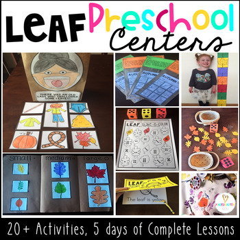 Fall Leaf Activities Unit for Preschool