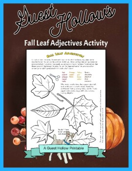 Fall Leaf Adjectives - Writing and Cut-Out Activity