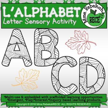 Fall Leaf Alphabet Activity Sheets (14 pgs with 26 letters)