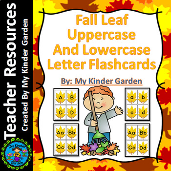 Fall Leaf Alphabet Letter Flashcards Uppercase and Lowercase