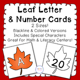 Fall Leaf Alphabet & Number Cards