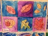 Fall Leaf Art - watercolor