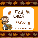 Fall Leaf Bundle... Literacy, Math & Science for P-K