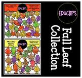 Fall Leaf Collection Clip Art Bundle {Educlips Clipart}